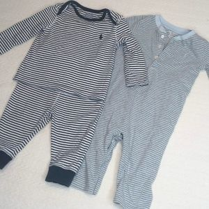 Baby Ralph Lauren Striped Outfit and Long Sleeve